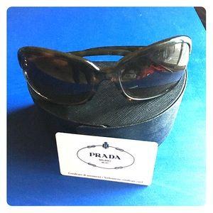 Tortoise & Gold Prada Sunglasses